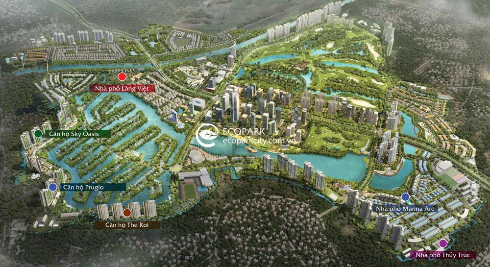 Bản đồ khu đô thị Ecopark 2020